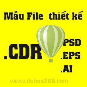 Mẫu file CorelDRAW CDR cho dân Design