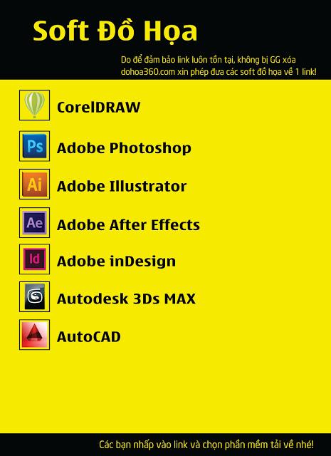Tổng hợp phần mềm đồ họa