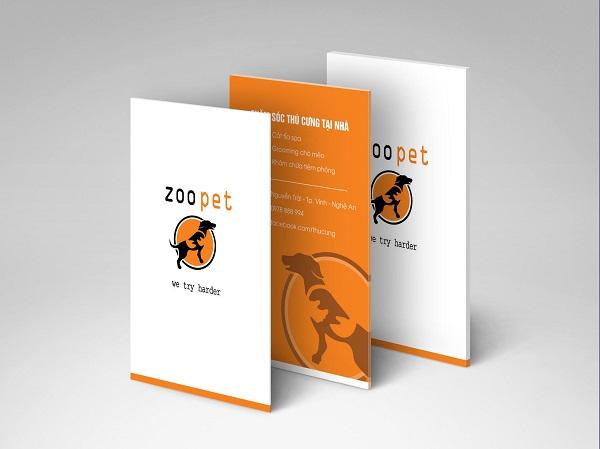 Mẫu thiết kế tờ rơi Zoopet