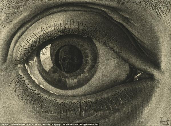 Nhìn sâu trong ánh mắt này bạn thấy gì? (Tác phẩm Eye - con mắt, 1946)