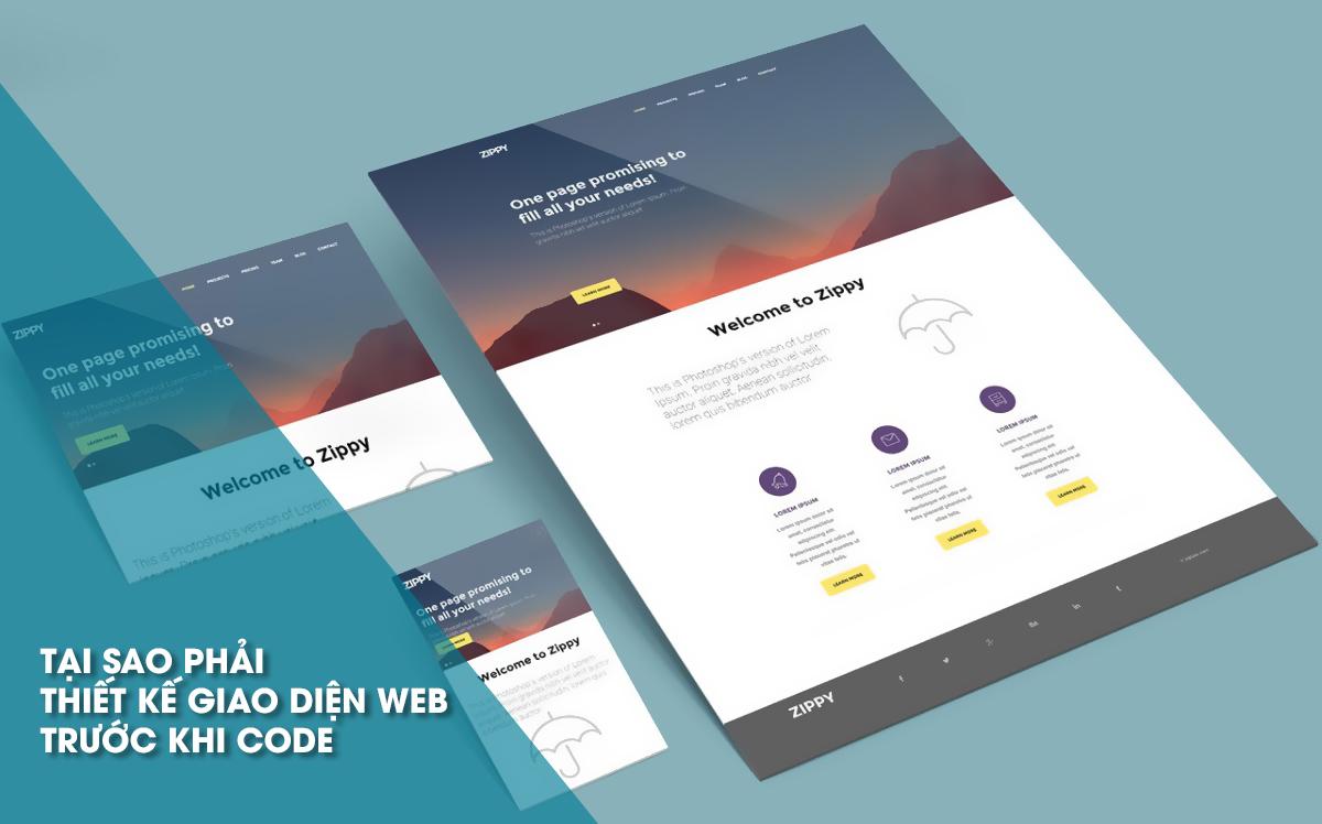 Tại sao phải thiết kế giao diện website trước khi Code