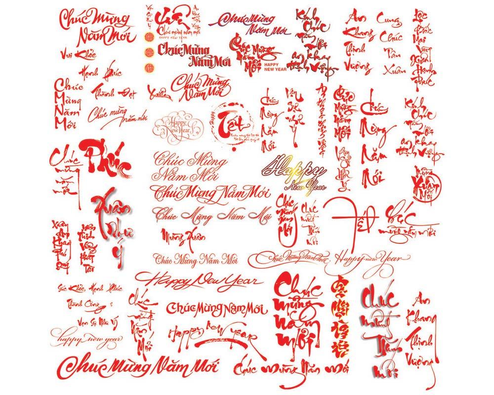 Font chữ Chúc Mừng Năm mới