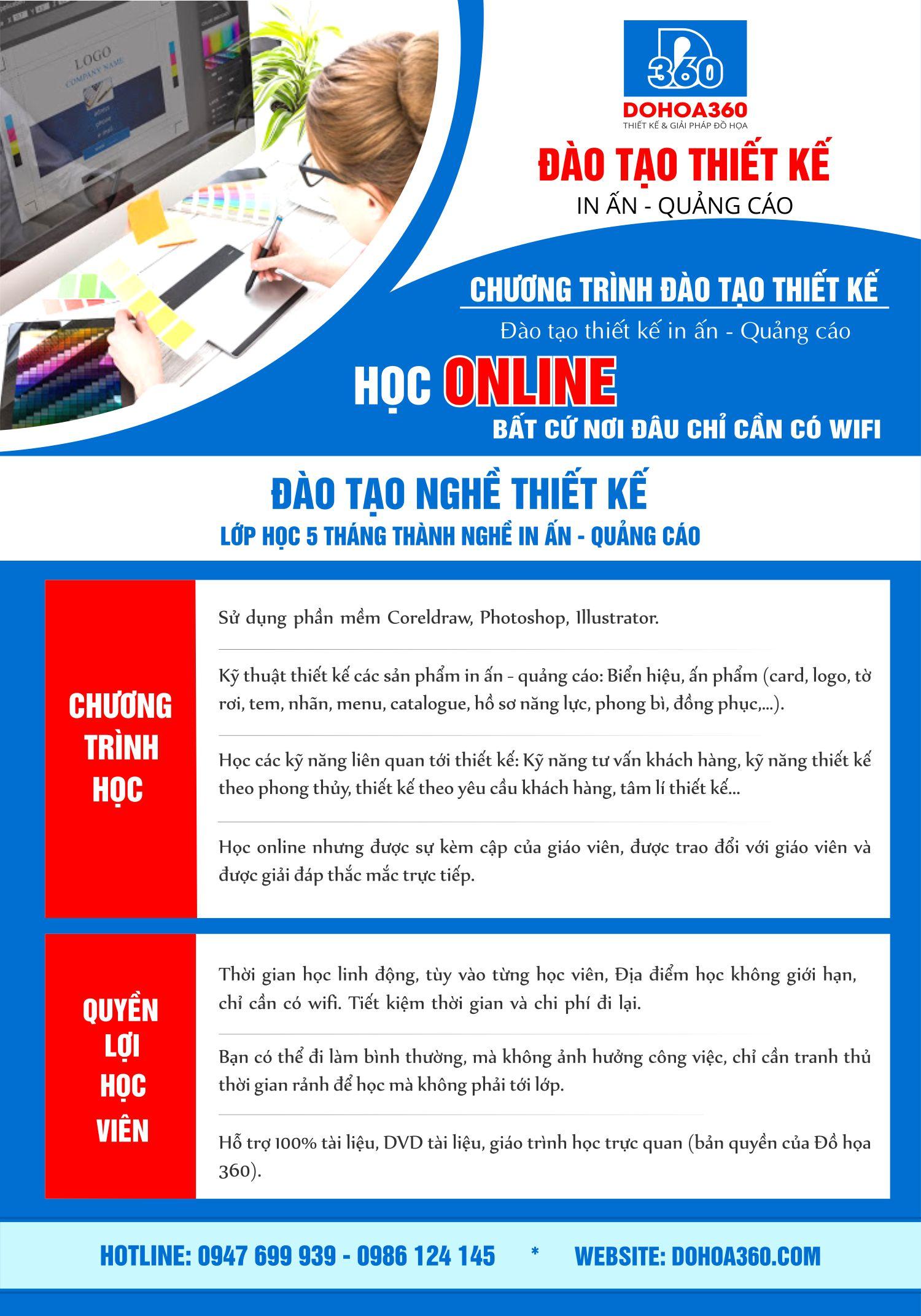 Học thiết kế in ấn quảng cáo Online