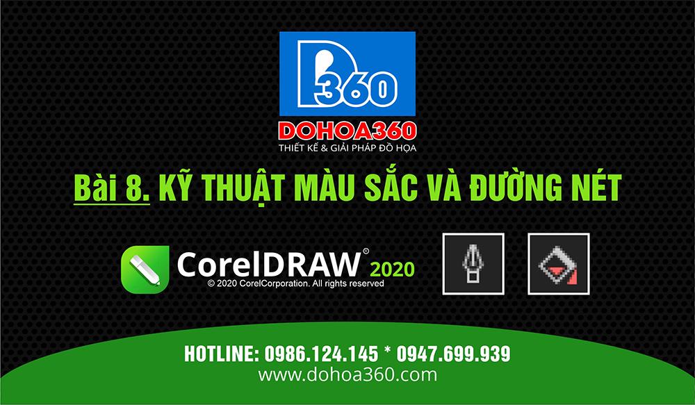 Xử lý với màu sắc và đường nét trong CorelDRAW 2020