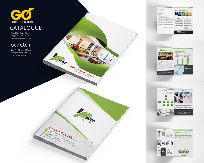 Mockup phối cảnh Catalogue cho Design